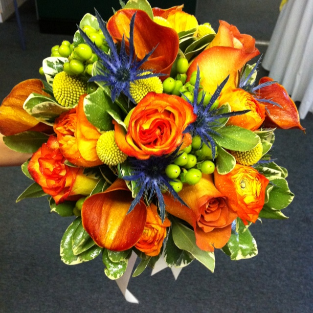 Wedding Flowers Orange And Yellow : Orange and yellow wedding flowers lisa s