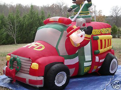 New 7 1 2 animated firetruck lighted christmas airblown inflatable r