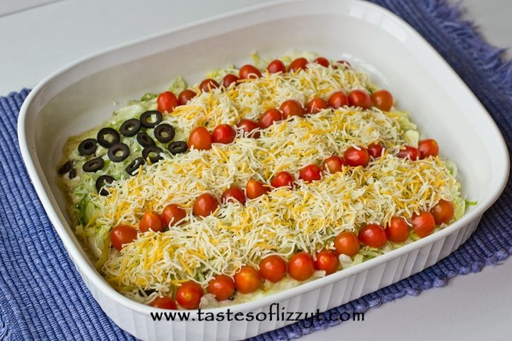 Patriotic Layered Taco Dip | Recipe