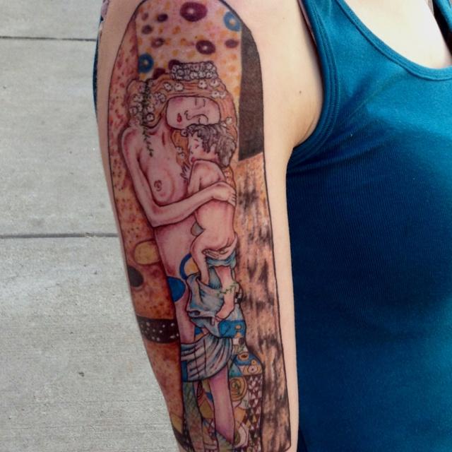 My Klimt  Three Ages of Woman  tattoo Klimt Three Ages Of Woman