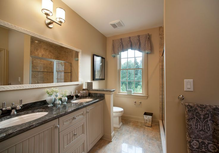 A unisex guest bathroom in earth tones wpl projects for Earth tone bathroom designs