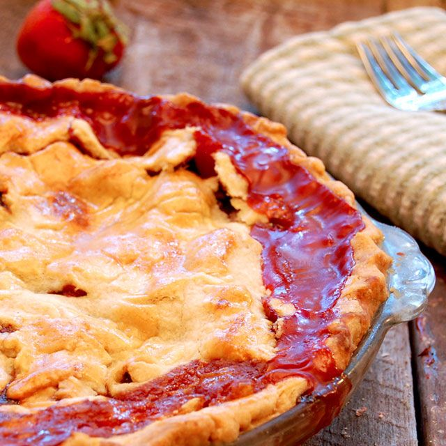 Apple-Blueberry Pie With Strawberry Sauce Recipes — Dishmaps