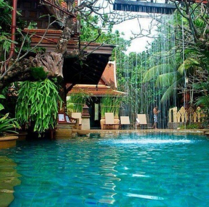 Amazing Backyard! Beautiful pool idea  In My Dream Home I Want