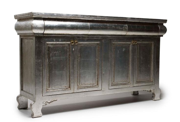 silver leaf sideboard - OKL
