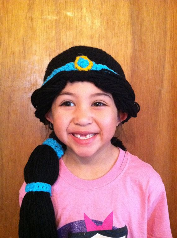 How awesome is the crochet Jasmine Hat! I know a little princess who ...