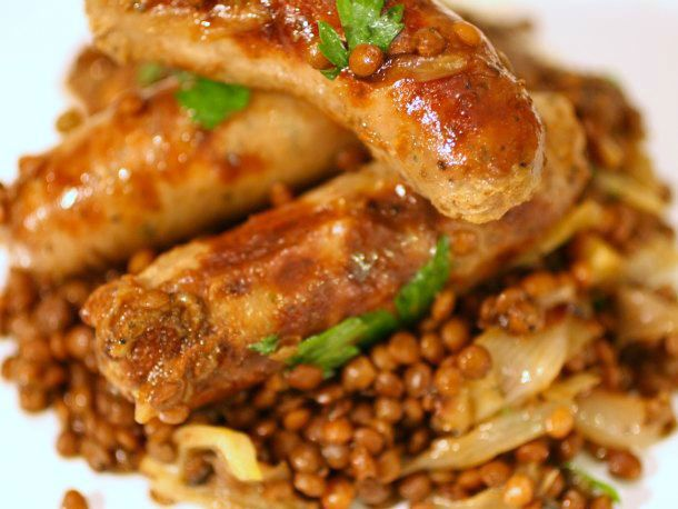 One-Pot Sausages and Lentils with Sweet Roasted Shallots (not TOTALLY ...