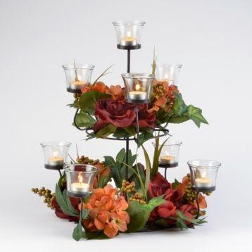 Hydrangea Two-Tiered Floral Centerpiece