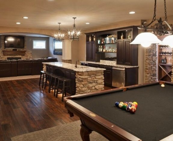 Man Cave Pool Room Ideas : Awesome pool table man cave room dream house ideas ღ