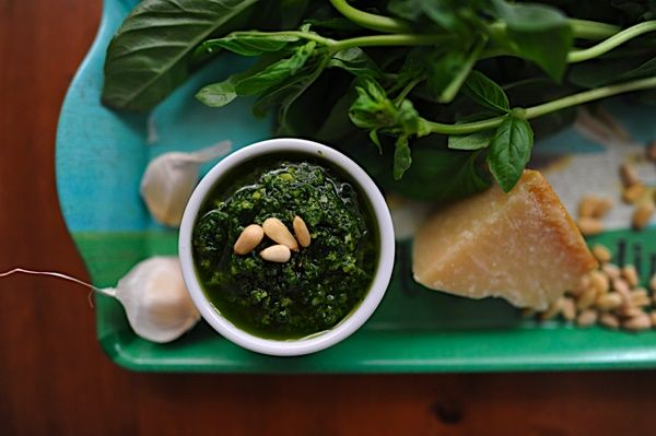 basil-parsley pesto...the bare thought of it is truly mouthwatering! I ...