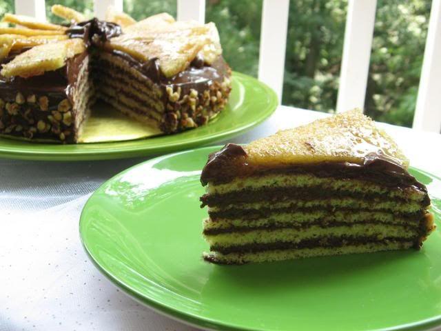 Raspberry And Vanilla Dobos Torte Recipe — Dishmaps