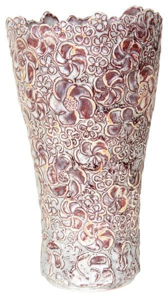 Scandinavian Made - Relief  Hanne Bertelsen's Relief vase with pleated edge by Scandinavian Made, 631-754-0464; scandinavianmade.com.
