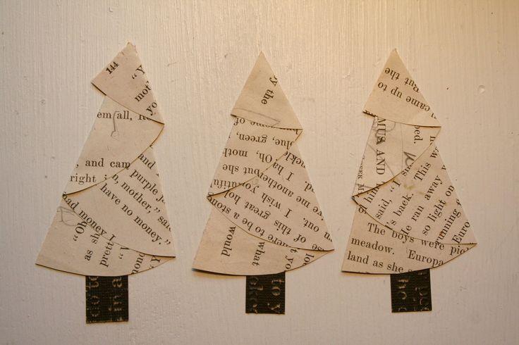 Vintage Paper Christmas Trees. $5.95, via Etsy.