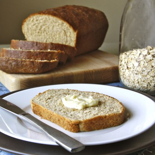 Oatmeal honey sandwich bread. Just made a loaf in the bread machine ...