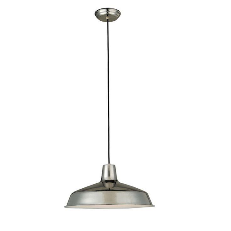 w chrome mini pendant light with metal shade at. Black Bedroom Furniture Sets. Home Design Ideas