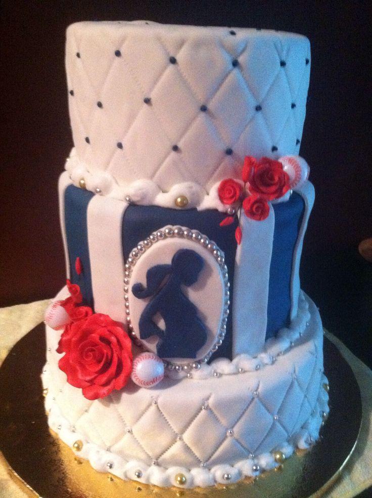 baseball baby shower cake my cakes pinterest