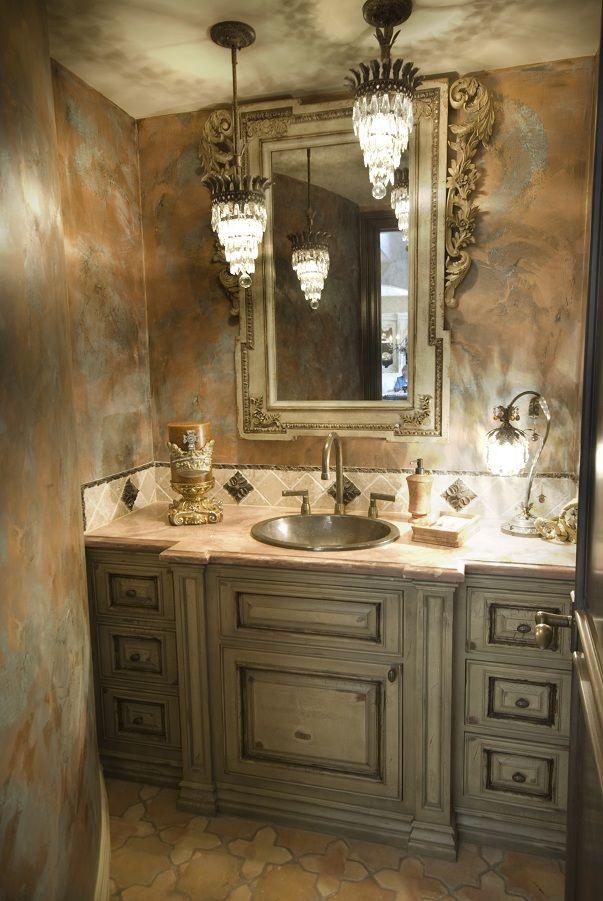 Venetian plaster walls faux painting stenciling for Venetian plaster bathroom ideas