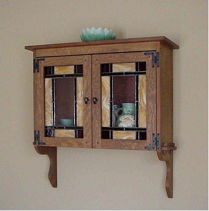 Craftsman Style Bathroom Wall Cabinets : Mission oak wall cabinet estilo arts crafts