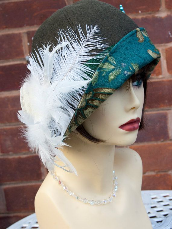 1920s viintage inspired cloche hat great gatsby by aileens4hats 163 30