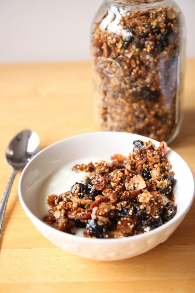Cherry Almond Chia Granola recipe | Breakfast | Pinterest