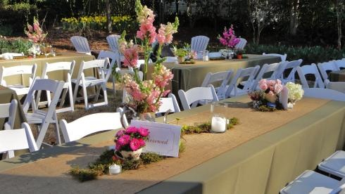 Rustic tea party wedding!