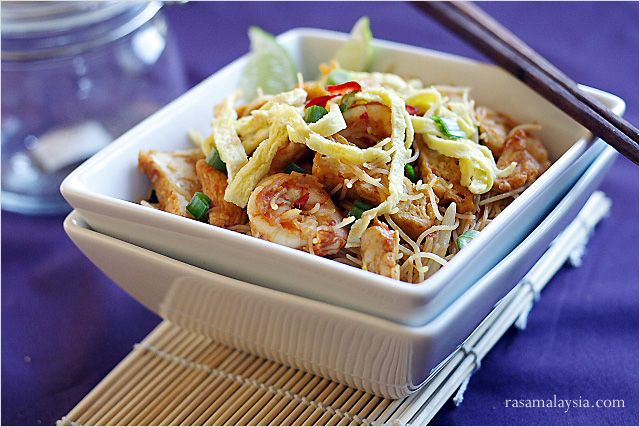 Mee Siam (Spicy Rice Vermicelli) Recipe | Easy Asian Recipes at ...