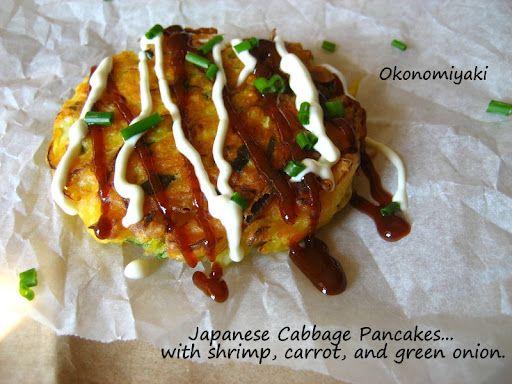 "Okonomiyaki (Japanese ""Pancakes"") | Food Porn | Pinterest"