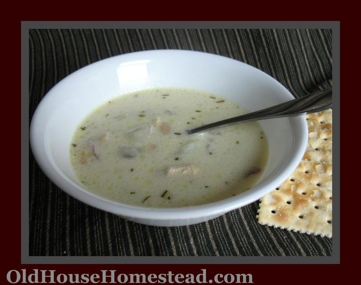 Old House Homestead -- Rosemary Chicken Chowder recipe -- gluten free!