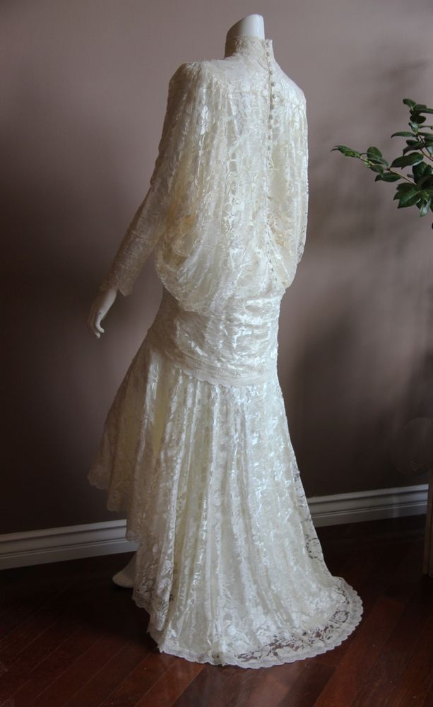 Wedding dress 1920 s flapper style great gatsby vintage for 1920 style wedding dress