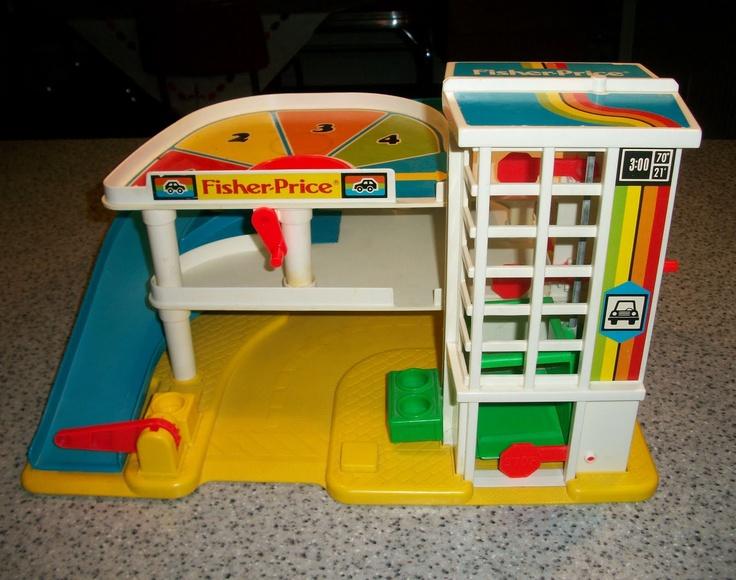 fisher price parking garage 70 39 s memories pinterest. Black Bedroom Furniture Sets. Home Design Ideas