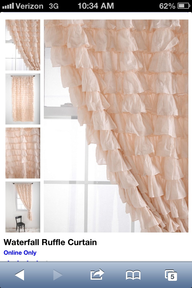 Hanging Curtains Over Blinds Vintage Pink Ruffle Curtains