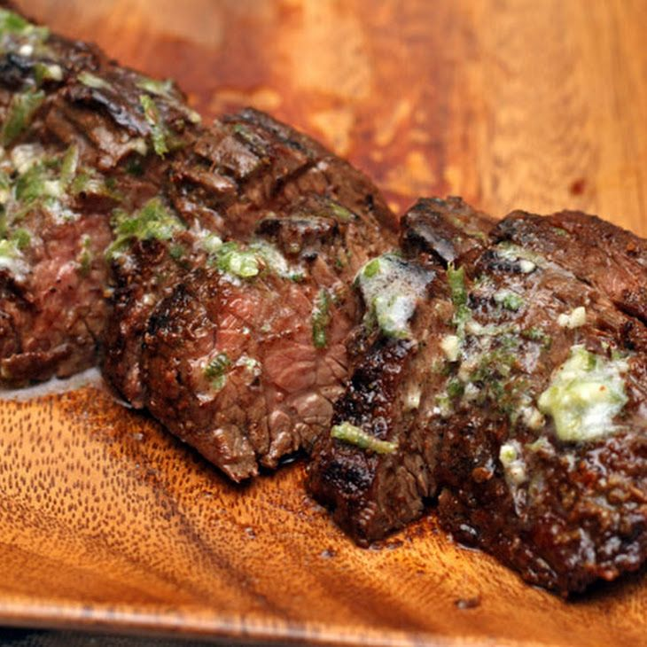 Grilled Chipotle-Rubbed Steaks with Lime Butter Recipe. #corona # ...