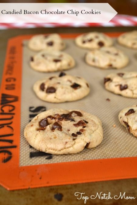 Candied Bacon Chocolate Chip Cookies - Mom's Test Kitchen