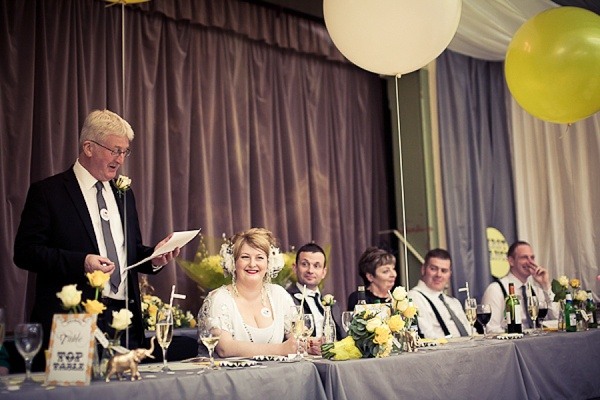 Temperley wedding dress yellow village hall wedding