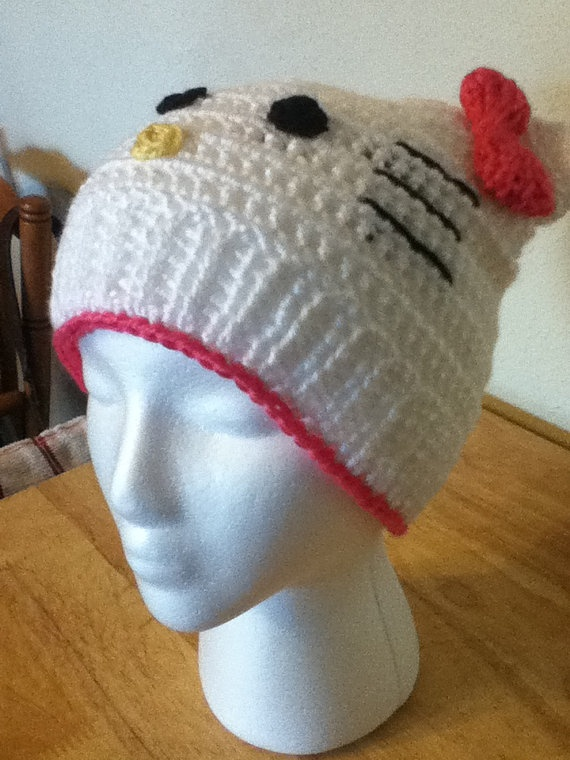Crochet Hello Kitty Hat Addiction Pinterest
