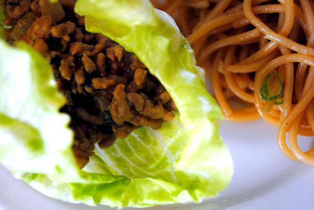 Saucy Pork Lettuce Wraps | the more savory side of things | Pinterest