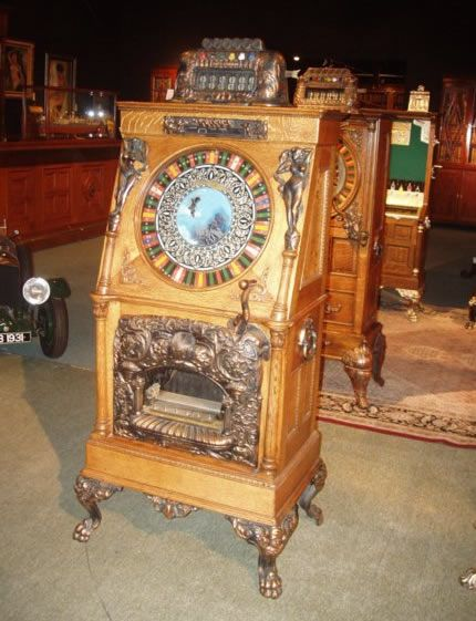 antique slot machines antiques pinterest. Black Bedroom Furniture Sets. Home Design Ideas