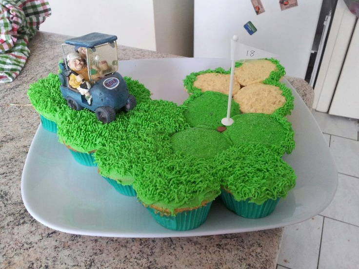 Pull apart cupcakes | Sweet Golf | Pinterest