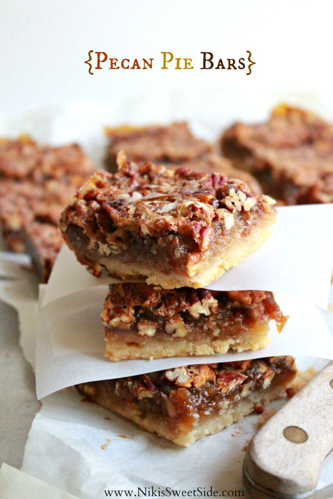 Pecan Pie Bars | Cookies and Bars | Pinterest