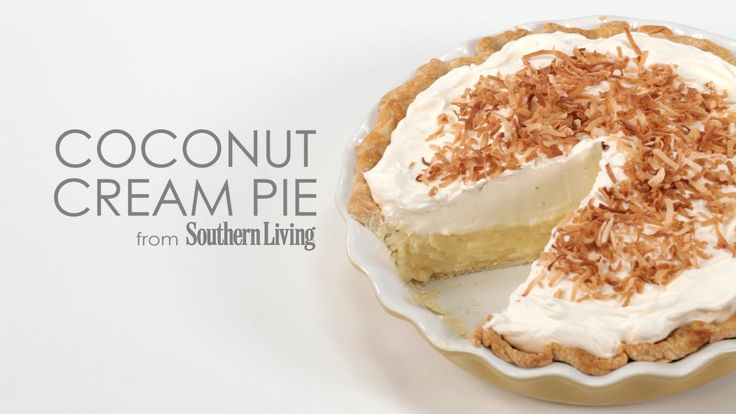 Coconut Cream Pie | Delectable Foods and Beverages | Pinterest