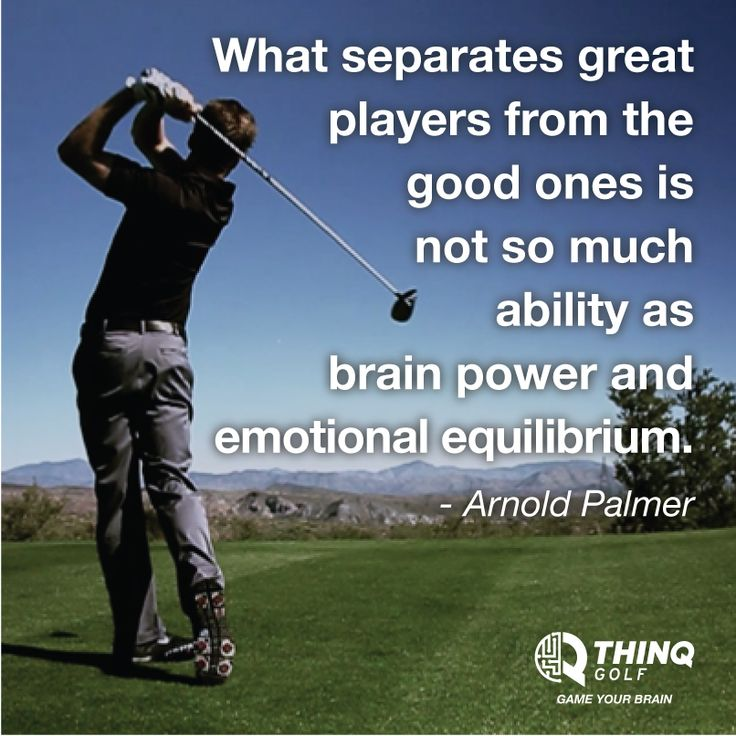 what separates great players from the good ones golf