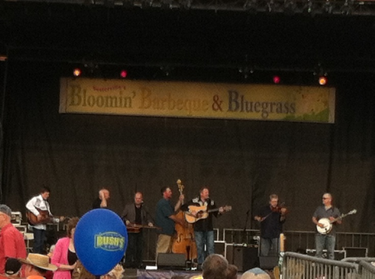 Jim Bo Whaley and Greenbrier in Sevierville  Tn  Blooming BBQ and Bluegrass festival , love these hometown boys!!