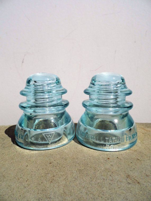 Vintage glass insulator whitall tatum company mid for Collectible glass insulators