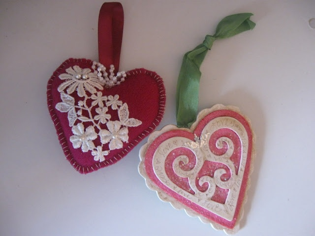 valentine's day felt heart