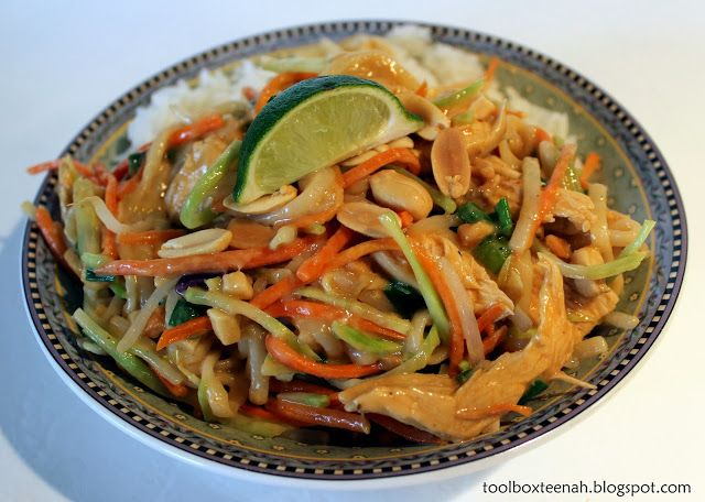 teenah's projects: Recipe Wednesday; Asian Peanut Noodles with Chicken