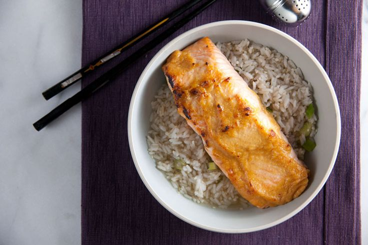 Miso Glazed Salmon in Green Tea-Ginger Broth Recipe
