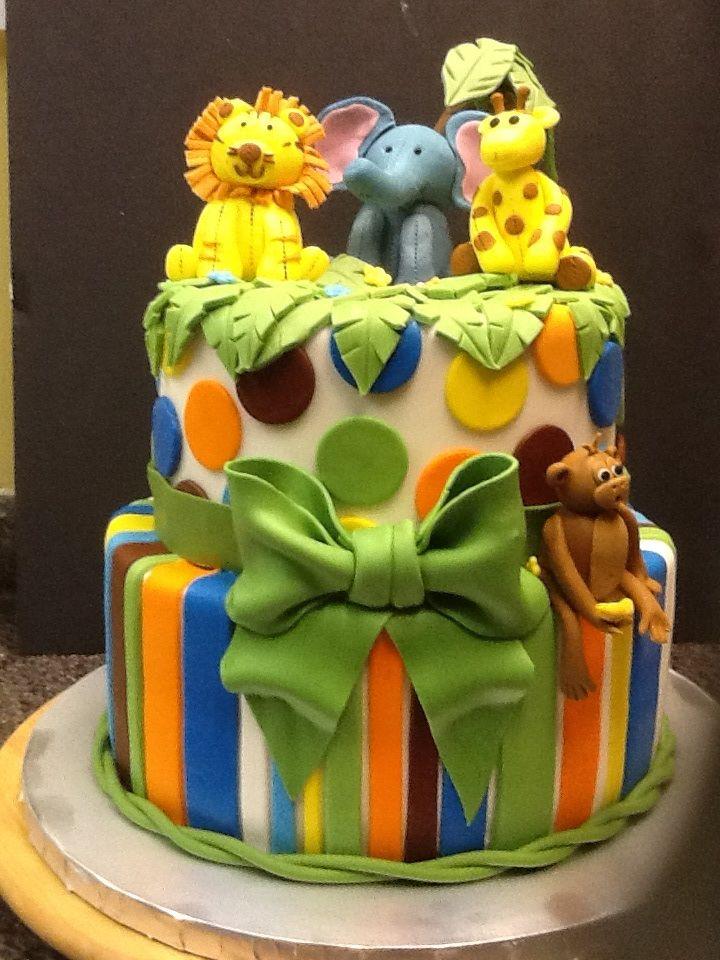safari baby shower cake cake designs pinterest