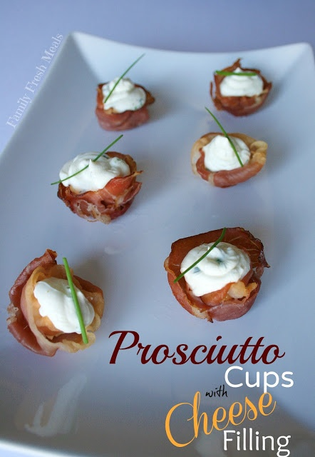 Prosciutto Cups with Cheese. Believe it or not, this appetizer only ...
