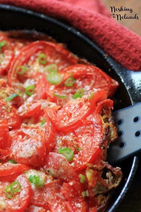 BBQ Tomato Frittata - green onion, eggs, salt & pepper, olive oil ...