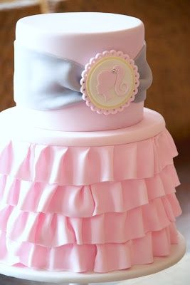 barbie cake or would be cute with a single initial in the middle of the medalion