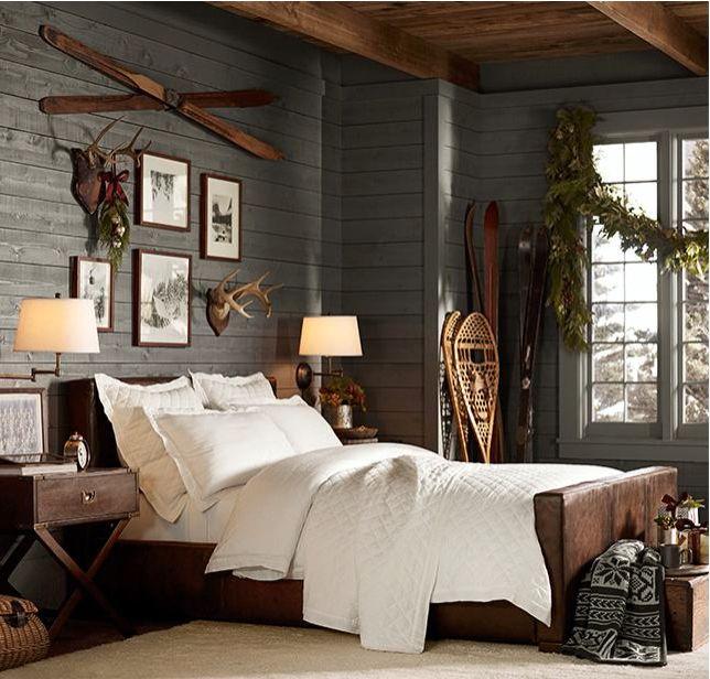 Rustic bedroom - different view.  Bedrooms  Pinterest